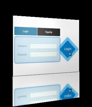 Смотреть изображение файла Стильная полупрозрачная форма входа и регистрации на CSS3 и jQuery